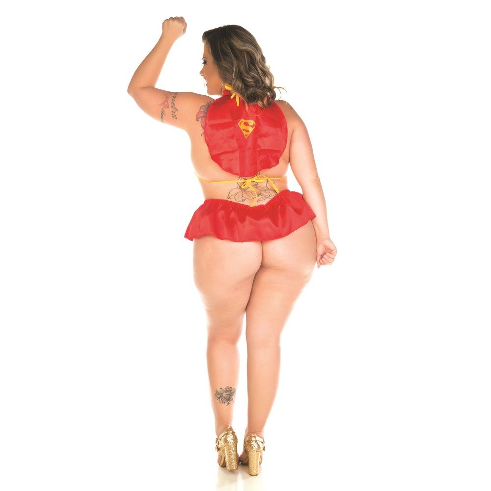 KIT FANTASIA MINI SUPER GIRL PLUS SIZE PIMENTA SEXY